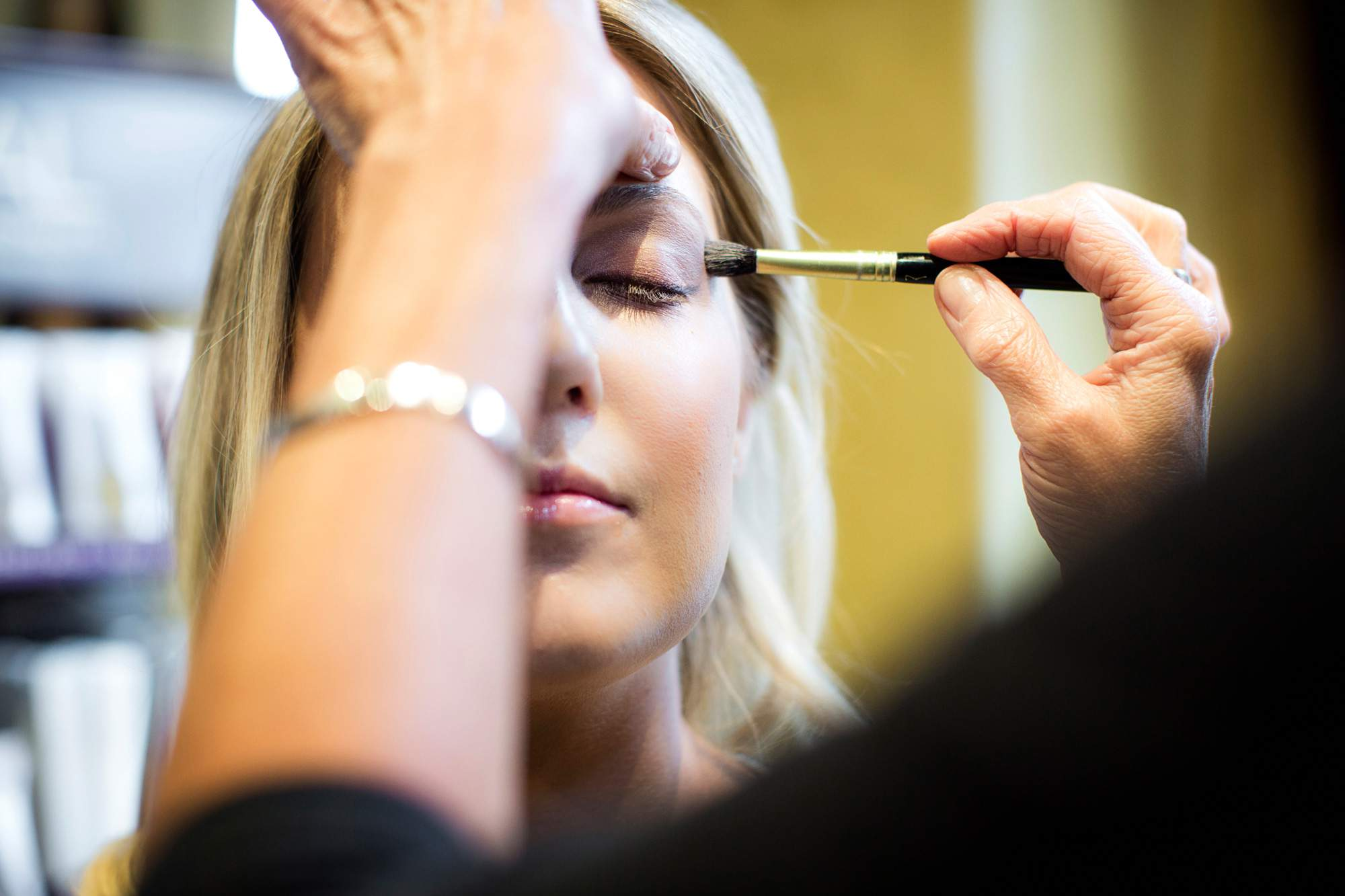 Eye Shadow being done - Makup - Salon Services - Rapunzels Salon and Spa - Canmore
