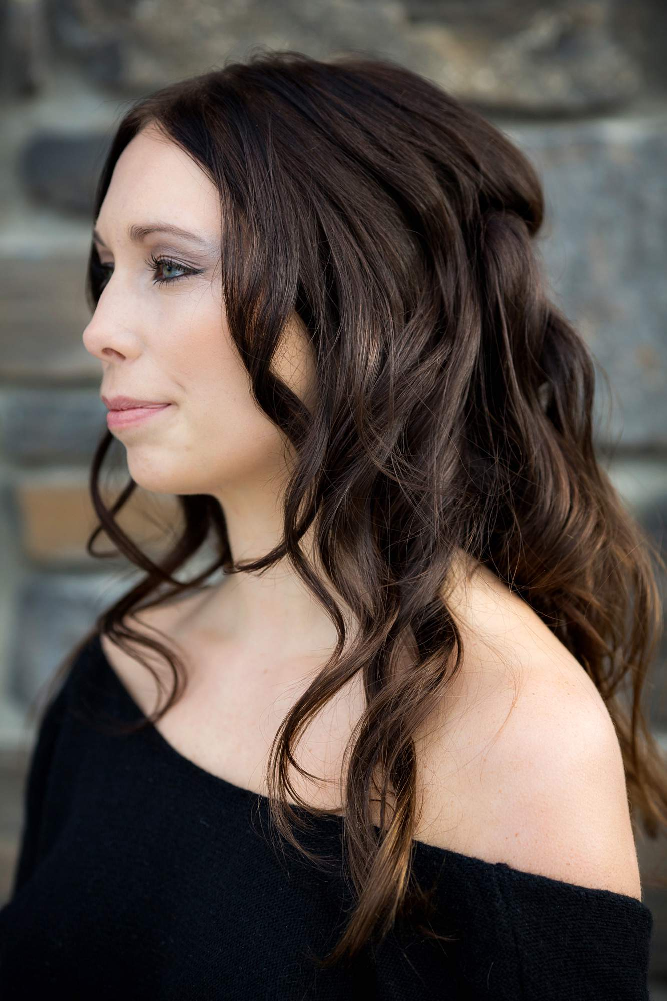 Rapunzels Hair & Makeup - side profile - Salon Services - Rapunzels Salon and Spa - Canmore