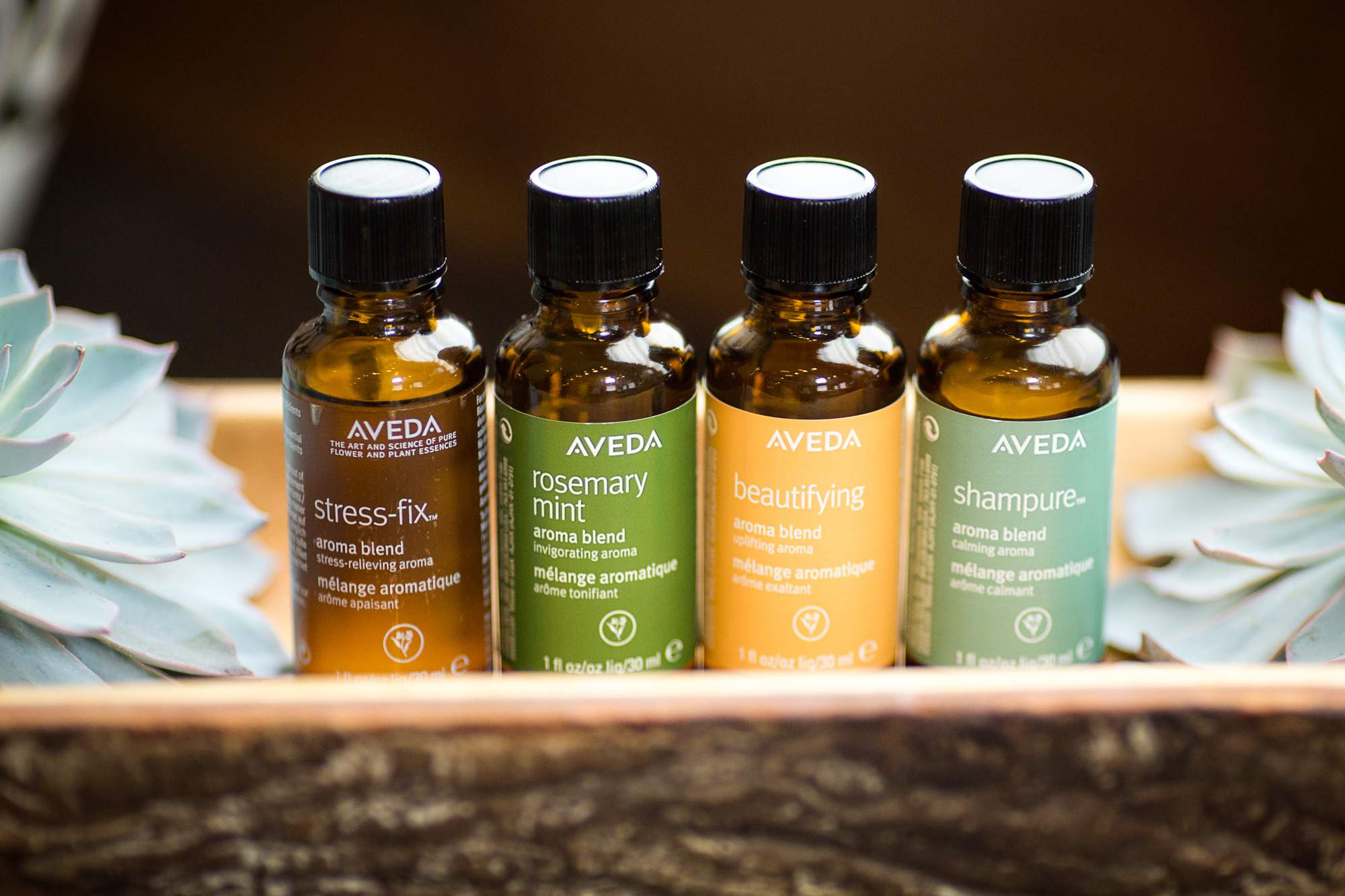 Aveda Stress Fix, Rosemary Mint, Shampure & Beautifying Oils - Rapunzels Salon and Spa - Canmore