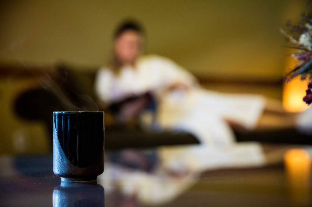 Aveda Tea in Rapunzels Lounge - Relaxing Spa Experience - Rapunzel Salon & Spa - Canmore