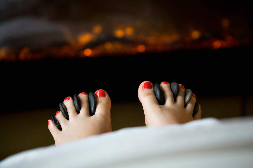 Hot Stone Massage at Rapunzels in Canmore- Come see our amazing massage therapists!
